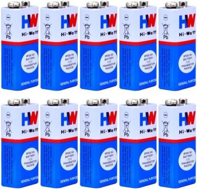 View balrama 10pc 9 VOLTS BATTERY HI-WATT 100% Original 6F22 9V Long Life Carbon Zinc Batteries Camera Battery Pack(No) Price Online(balrama)