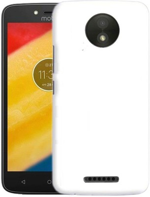 Unistuff Back Cover for Motorola Moto C Plus(White, Plastic)