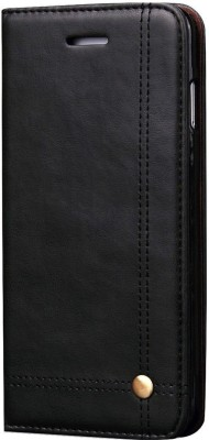 Cock Flip Cover for Apple iPhone 6S(Black, Leather)