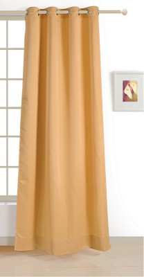 Swayam ECO Polyester Window Curtain 152 cm (4.9ft) Single Curtain(Solid Beige)  available at flipkart for Rs.424