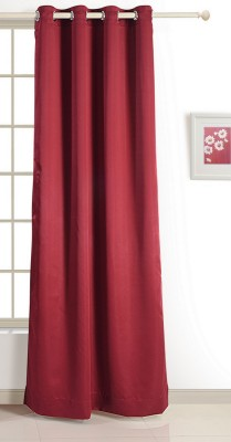 Swayam ECO Polyester Window Curtain 152 cm (4.9ft) Single Curtain(Solid Maroon)  available at flipkart for Rs.424