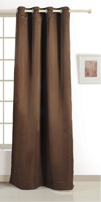 Swayam ECO Polyester Window Curtain 152 cm (4.9ft) Single Curtain(Solid Dark Brown)  available at flipkart for Rs.424