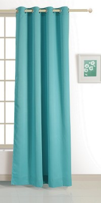 Swayam ECO Polyester Window Curtain 152 cm (4.9ft) Single Curtain(Solid Turquoise)  available at flipkart for Rs.424
