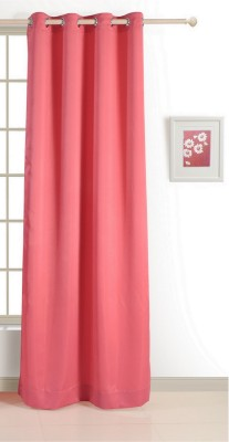 Swayam ECO Polyester Window Curtain 152 cm (4.9ft) Single Curtain(Solid Pink)  available at flipkart for Rs.424