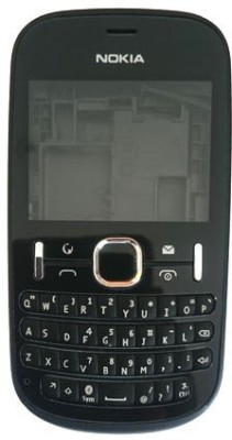 Maverick Replacement Full Body Housing Panel For Nokia Asha 200 Full Panel(Black)