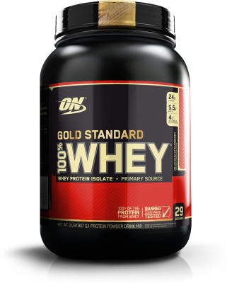 Optimum Nutrition Gold Standard 100% Whey Protein(907 g, Delicious Strawberry)