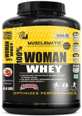 Musclematic Whey Protein(2 kg, strawberry)