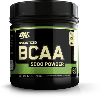 Optimum Nutrition Instantized BCAA 5000mg Powder (345gms, Unflavored)