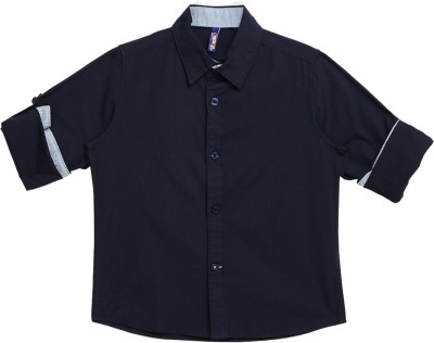 Tickles By Inmark Boys Solid Casual Spread Shirt