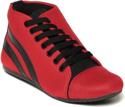 SAM STEFY Canvas Shoes(Red) at flipkart