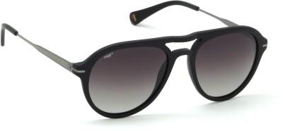 Image Aviator, Round Sunglasses(Black)
