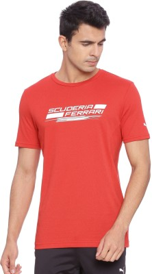 50 Puma T On Flipkart Shirt Off Printed Round Red Men's Neck rqrpOEw
