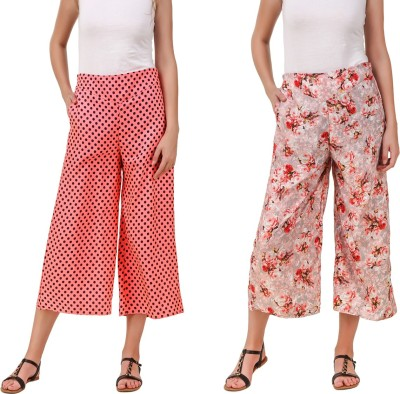 Delux Look Regular Fit Women Orange Trousers at flipkart