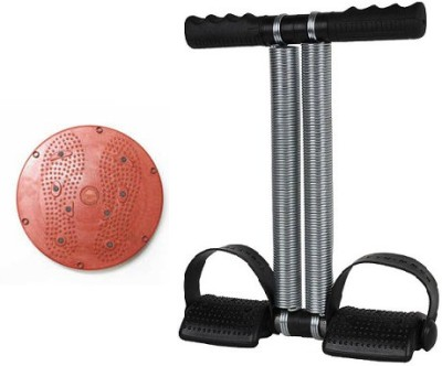 NATIONAL SPORTS Combo Of 2 Tummy Trimmer Double Spring and Twister Ab Exerciser(mulicolort)