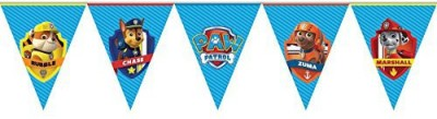 PARTY PROPZ PENNANT BANNER SET OF 1/ PAW PATROL BIRTHDAY DECORATION/PAW PATROL PARTY SUPPLIES Pennant Banner(8 ft, Pack of 1)
