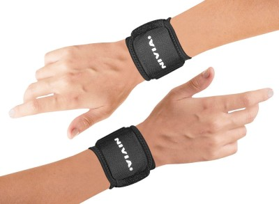 Nivia WRIST SUPPORT BLACK(2 PIECES) Fitness Grip(Black)  available at flipkart for Rs.310