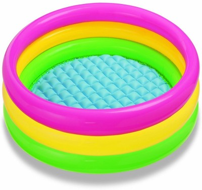 CrackaDeal Babylike 2feet Inflatable Pool(Blue, Red, Yellow)