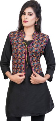 Banjara India Sleeveless Printed Women Jacket