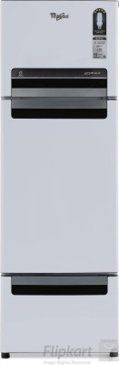 Whirlpool 260 L Frost Free Triple Door Refrigerator(FP283D PROTTON ROY, Mirror White, 2017)