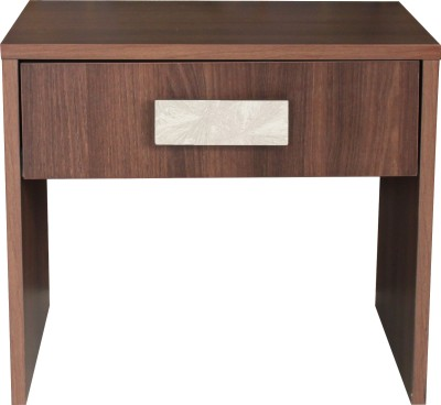 Crystal Furnitech Engineered Wood Bedside Table(Finish Color - Walnut + Dream white)
