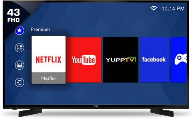 Vu 109cm (43 inch) Full HD LED Smart TV - Brand warranty ₹33,999₹38,500