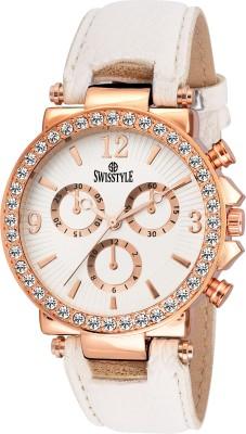 Swisstyle SS-LR625-WHT-WHT  Analog Watch For Women