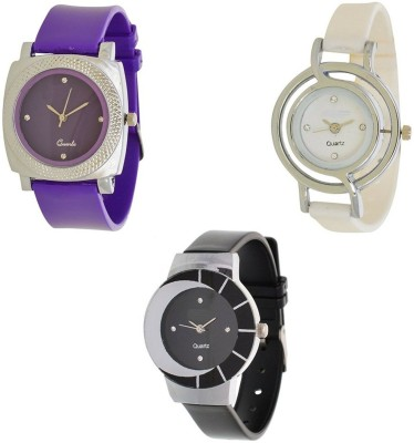 Miss Perfect Purple_White_Black Pu letest collaction Sexy Girl Watch Watch - For Women