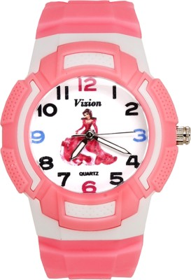 Vizion 8565AQ-3-3 Barbie-The Little Angel Analog Watch For Girls