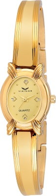 VIKINGS ANTIQUE GOLDEN DIAL WITH GOLD PLATING BRACELET Watch  - For Girls   Watches  (VIKINGS)