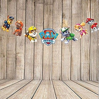 PARTY PROPZ PAW PATROL BIRTHDAY DECORATION/STRING BANNER(SET OF 1)/PAW PATROL PARTY SUPPLIES Pennant Banner(8 ft, Pack of 1)