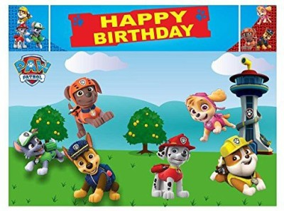 PARTY PROPZ PAW PATROL BIRTHDAY DECORATION/BACKDROP 5FT-7FT/PAW PATROL PARTY SUPPLIES Banner(5 ft, Pack of 1)