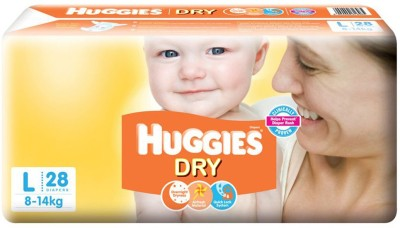 Huggies Dry Diapers   L 28 Pieces Huggies Baby Diapers