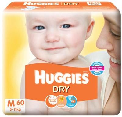 Huggies Dry Baby Diapers (60 PCS, M)