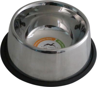 Pets Empire Jumbo Round Steel Pet Bowl(1600 ml Silver)