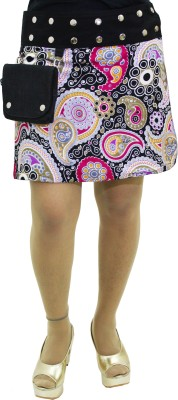 Gugi Paisley Women Wrap Around Multicolor Skirt
