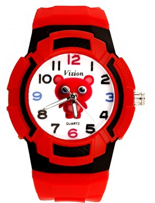Vizion 8565AQ-6-2 Teka-The Red Panda Analog Watch For Kids