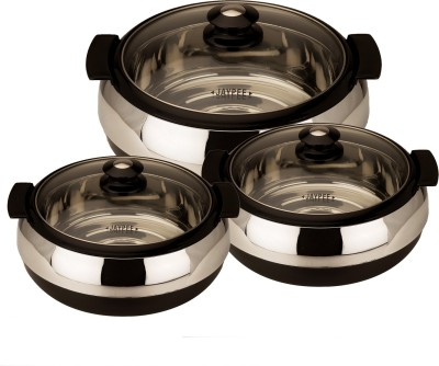 Jaypee Glasserol Set Pack of 3 Casserole Set(3.7 L)