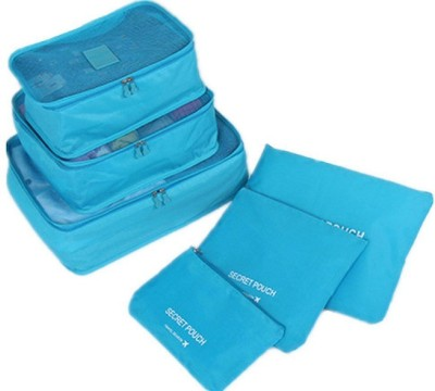 Italish 6 in 1 Waterproof Travel Laundry Pouch Cosmetics Make up Bags Organizer Blue
