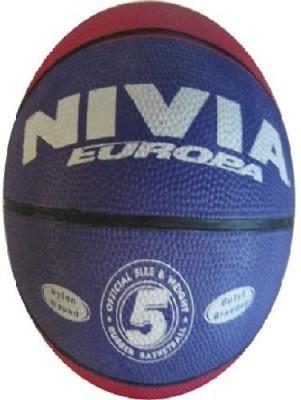 NIVIA Europa Basketball   Size: 5 Pack of 1, Multicolor NIVIA Basketballs