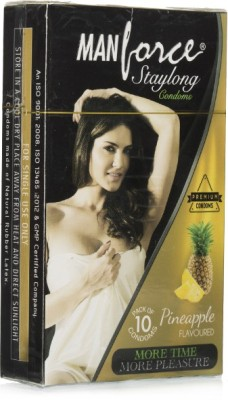 Manforce Staylong PineApple Condom (10 Condoms)