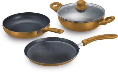 Prestige Omega Festival Pack - Build Your Kitchen Set Induction Bottom Cookware Set