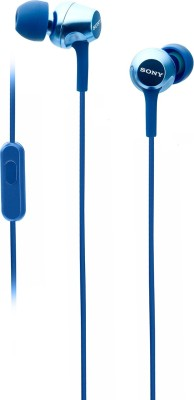 Sony EX255AP Wired Headset(Blue, Wired in the ear)