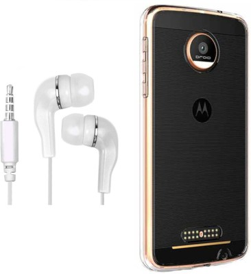 Mocell Case Accessory Combo for moto c plus Transparent