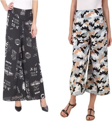 Delux Look Regular Fit Women Black Trousers at flipkart