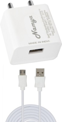NAMYA 2A. FAST CHARGER  SYNC/DATA CABLE FOR IN__TEX AQA LION 4G 1 A Mobile Charger with Detachable Cable White