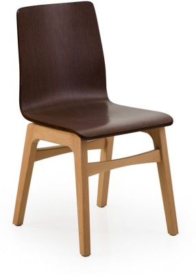 Dovetail engineered wood Chair(Finish Color - Brown)