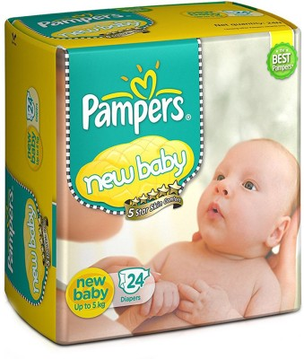 Pampers New Baby Diapers, New Born - 24 Pieces