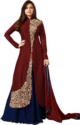 Viha Anarkali Gown(Maroon, Blue)