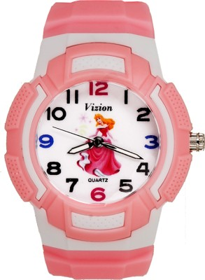 Vizion 8565AQ-3-1 BARBIE- Golden Hair Cinderella Analog Watch For Girls