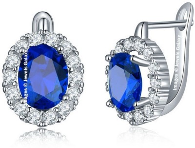 Jewels Galaxy Luxuria Swarovski Crystal Alloy Clip on Earring Jewels Galaxy Earrings